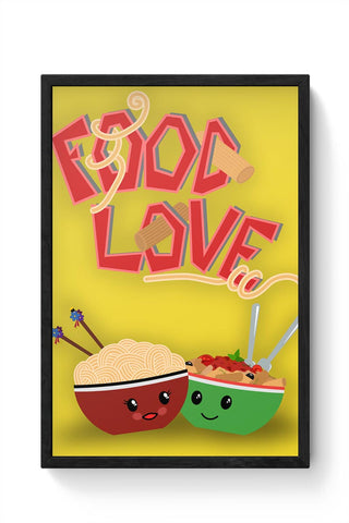 FoodLove Framed Poster Online India