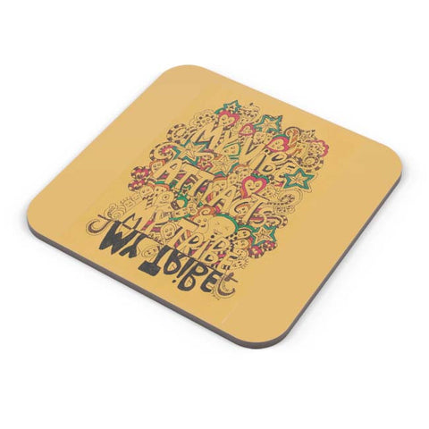 Buy Coasters Online | My Vibe Gathers My Tribe Coaster Online India | PosterGuy.in