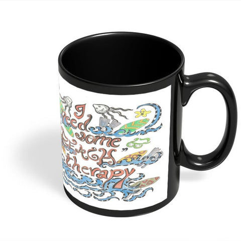 Coffee Mugs Online | Beach Therapy Black Coffee Mug Online India