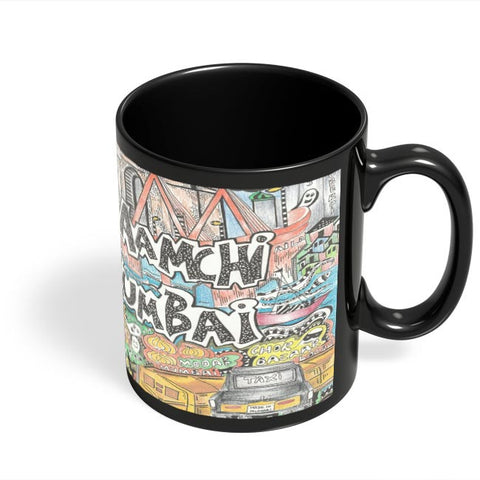 Coffee Mugs Online | Aamchi Mumbai Black Coffee Mug Online India