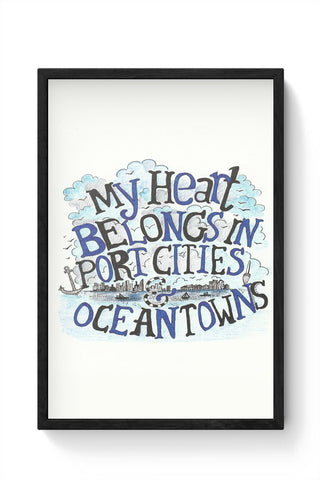 Framed Posters Online India | my heart belongs to the sea Framed Poster Online India