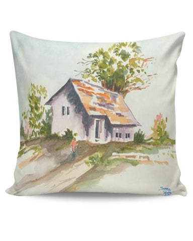 Being Indian, Home, Landscape, Bliss, Peace, Happiness, Family  Cushion Cover Online India