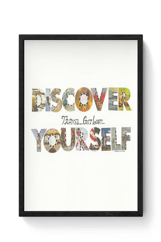 Discover yourself Framed Poster Online India
