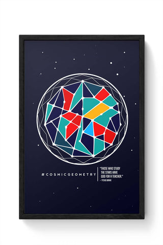 Framed Posters Online India | Cosmic Geometry Laminated Framed Poster Online India