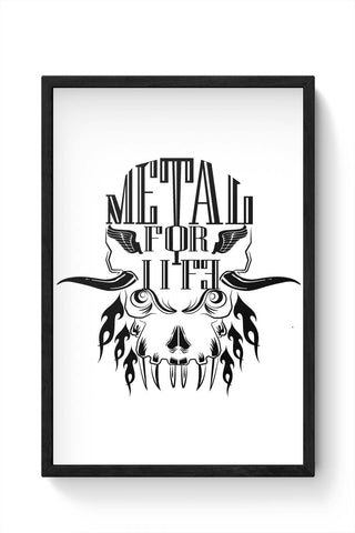 Framed Posters Online India | Heavy Metal For Life Laminated Framed Poster Online India