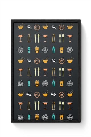 Food,Wine,Fries,Frenchfries,Coke,Chinese,Pizza,Beer,Soup,Cook Framed Poster Online India