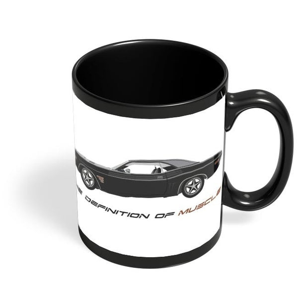 Definition Of Muscle Black Coffee Mug Online India