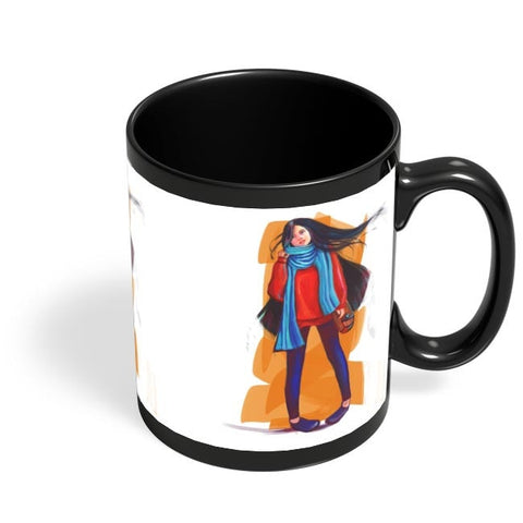 A Winter Girl Black Coffee Mug Online India