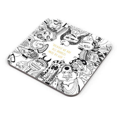 Buy Coasters Online | Doodle By God Coasters Online India | PosterGuy.in