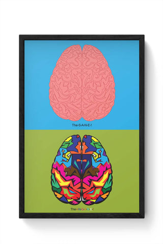 Framed Posters Online India | The Sane & The Insane Framed Poster Online India