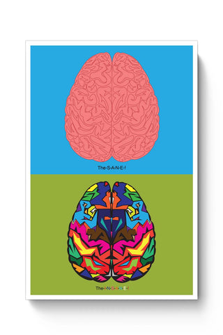 Posters Online | The Sane & The Insane Poster Online India | Designed by: Ecstacy Designs