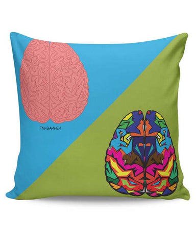PosterGuy | The Sane & The Insane Cushion Cover Online India