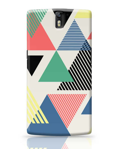 OnePlus One Covers | Lovely Triangles OnePlus One Case Cover Online India