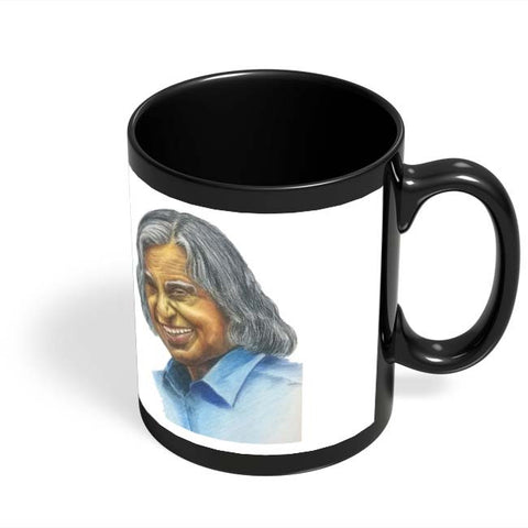 Coffee Mugs Online | Dr. A P J Abdul Kalam Black Coffee Mug Online India