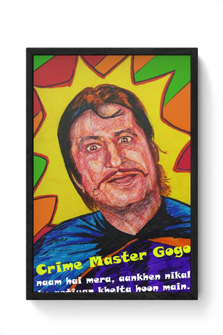 Framed Posters Online India | Crime Master Gogo Framed Poster Online India