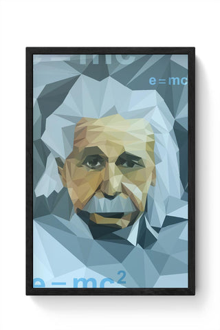 Einstein Low Poly Art Framed Poster Online India