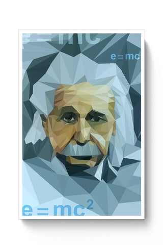 Einstein Low Poly Art Poster Online India