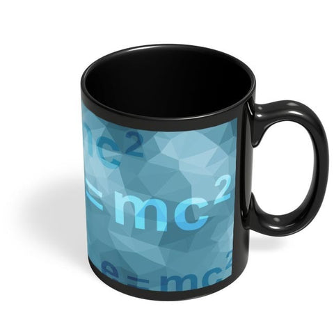 Coffee Mugs Online | Einstein Low Poly Art Black Coffee Mug Online India