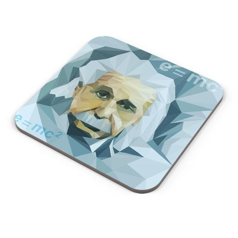 Buy Coasters Online | Einstein Low Poly Art Coasters Online India | PosterGuy.in