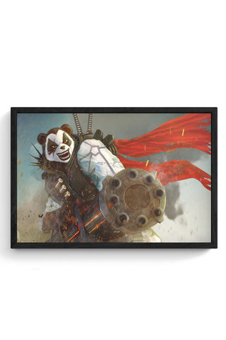 Framed Posters Online India | Angry Panda Framed Poster Online India