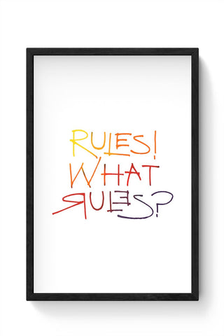 what rules? Framed Poster Online India