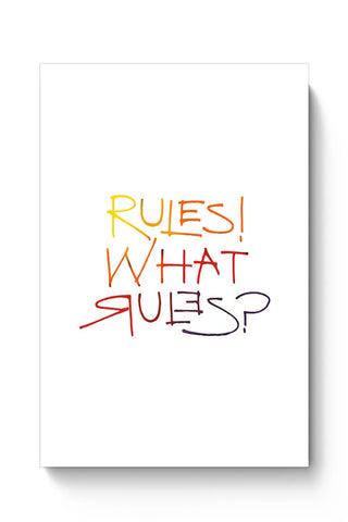 Buy what rules? Poster