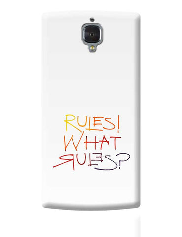 what rules? OnePlus 3 Covers Cases Online India