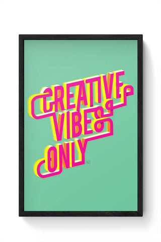 Framed Posters Online India | Creative Vibes Laminated Framed Poster Online India