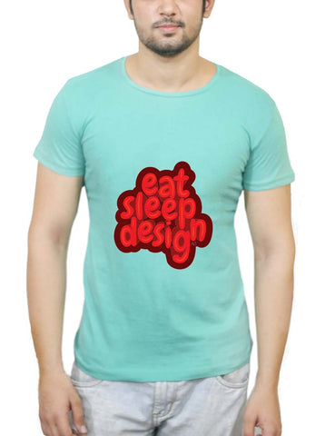 Buy Eat Sleep Design T-Shirts Online India | Eat Sleep Design T-Shirt | PosterGuy.in