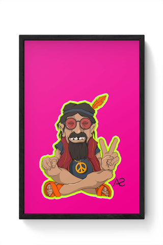 Framed Posters Online India | Happy Hippie Framed Poster Online India