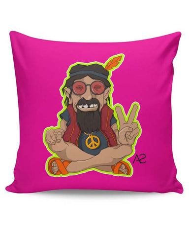 PosterGuy | Happy Hippie Cushion Cover Online India