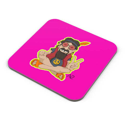 Buy Coasters Online | Happy Hippie Coaster Online India | PosterGuy.in