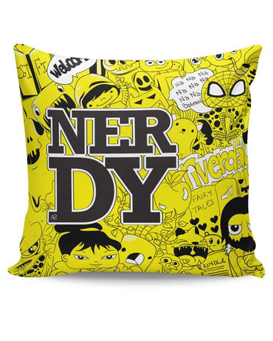 PosterGuy | Nerdy Doodle Cushion Cover Online India