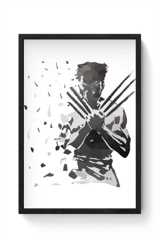 Framed Posters Online India | Low Poly Wolverine Dispersed Framed Poster Online India