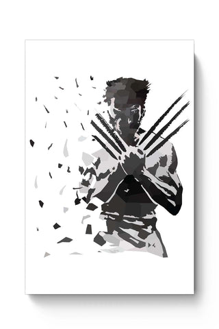 Posters Online | Low Poly Wolverine Dispersed Poster Online India | Designed by: Darshan