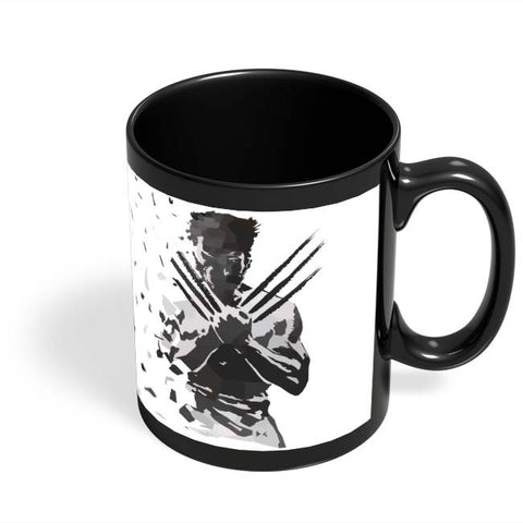 Coffee Mugs Online | Low Poly Wolverine Dispersed Black Coffee Mug Online India