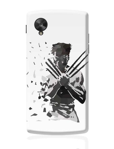Google Nexus 5 Covers | Low Poly Wolverine Dispersed Google Nexus 5 Case Cover Online India