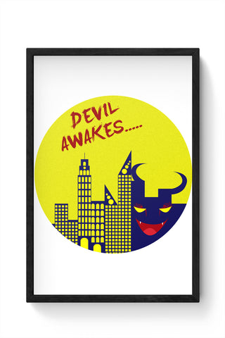 Framed Posters Online India | Devil Awakes Laminated Framed Poster Online India