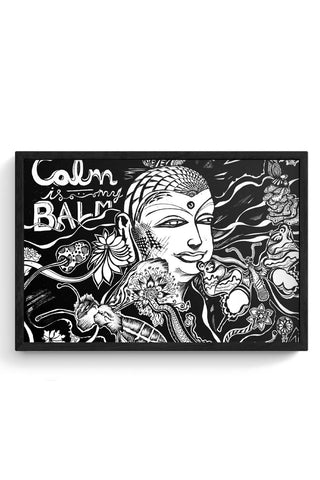 Framed Posters Online India | Calm Is My Balm - The Buddha Framed Poster Online India