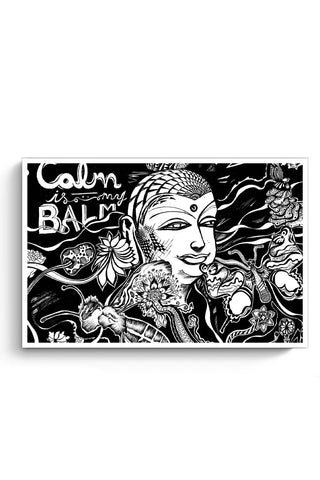 Posters Online | Calm Is My Balm - The Buddha Poster Online India | Designed by: Psyd Effects