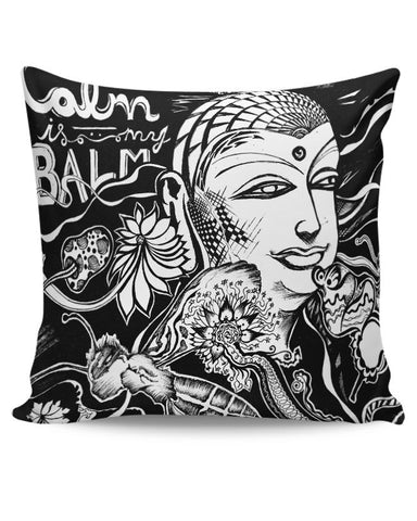 PosterGuy | Calm Is My Balm - The Buddha Cushion Cover Online India