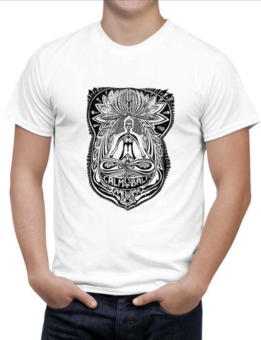 Buy The Buddha Rests In The Lotus Woman T-Shirts Online India | The Buddha Rests In The Lotus T-Shirt | PosterGuy.in