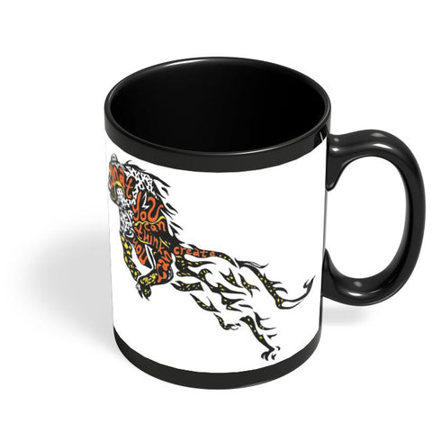 Cheetah as the Buddha Black Coffee Mug Online India