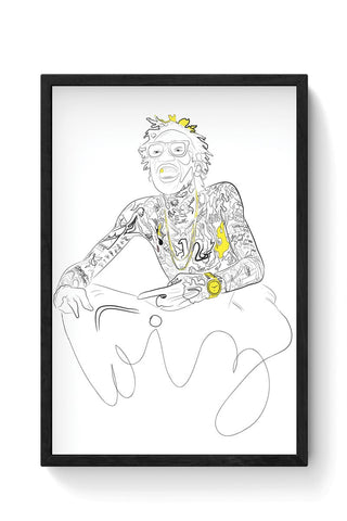 Wiz Khalifa and the black & yellow dazzle Framed Poster Online India