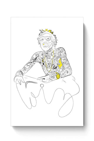 Buy Wiz Khalifa and the black & yellow dazzle Poster