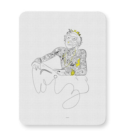 Wiz Khalifa and the black & yellow dazzle Mousepad Online India