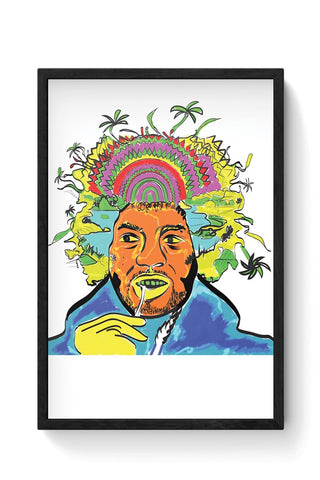 Jimi Hendrix and his hair raising utopia  Framed Poster Online India