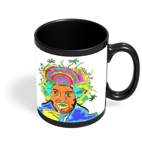 Jimi Hendrix and his hair raising utopia  Black Coffee Mug Online India