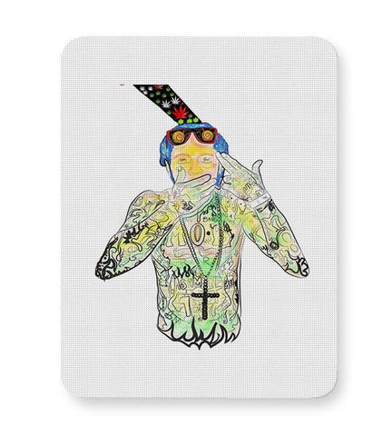 Lil Wayne - Gunshot to the head Mousepad Online India