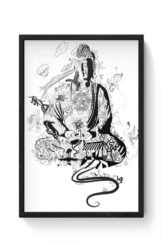 'Bee' Buddha Framed Poster Online India
